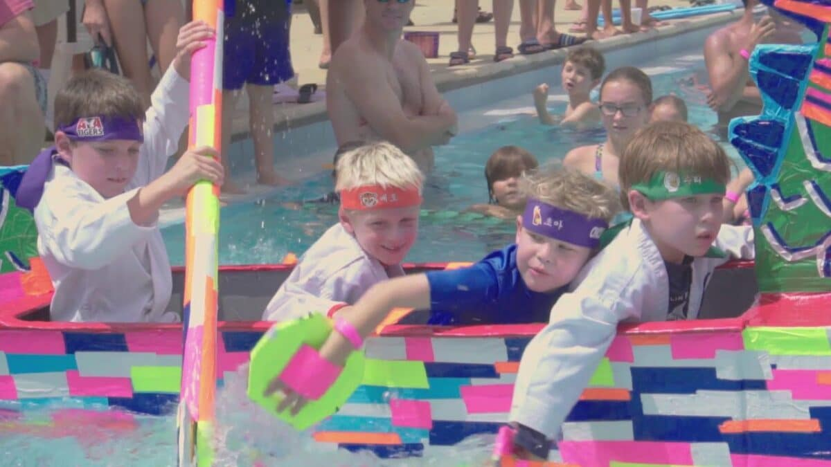 Watch Video of Labor Day BBQ and Cardboard Boat Race at The Landings
